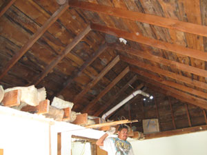 Bare ceiling