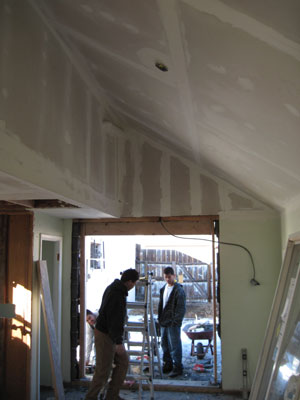 ceiling with drywall