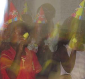 blurry kids