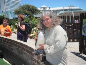 I got to hold the penguin